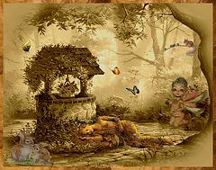 A l'ombre de ce puits fleuri...la fée-nature s'est endormie...
