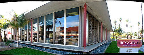 Santa Fe Federal Savings and Loan building panorama