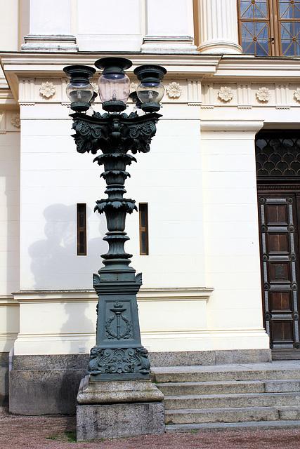 Kandelaber vor der Universität in Lund