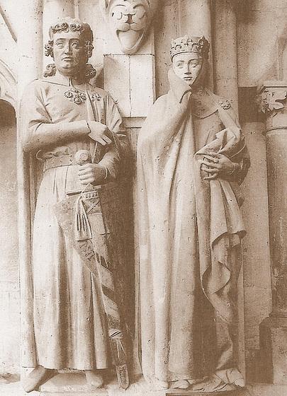 Ekkehard II kaj markgrafino Uta de Ballenstedt en la katedralo de Naŭmburgo