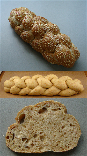 WGB Challenge #5: (Half recipe of the) Transitional (6-Braid) Challah