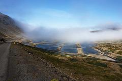 Morning fog in Patreksfjörður