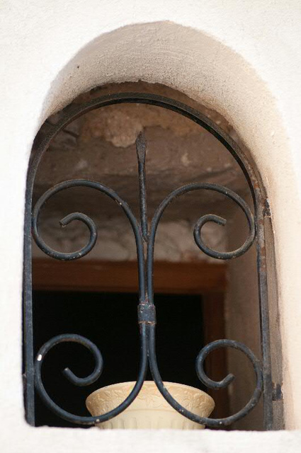 window in a village