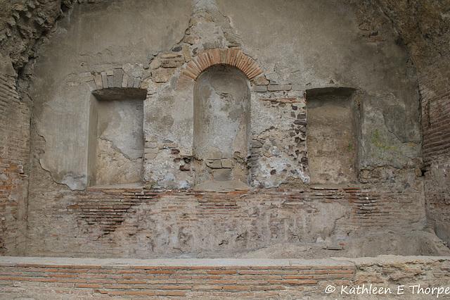 Pompeii - (Lararium) shrine for the villa gods - 052014-021