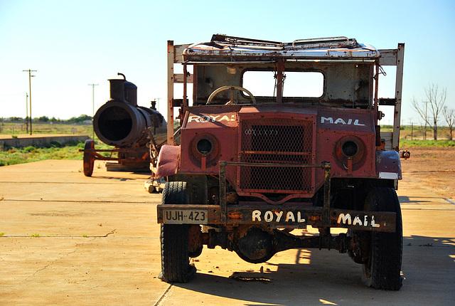 Marree. Tom Kruse's mail truck