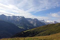 Blick von der Eggalm auf die Hintertuxer Berge