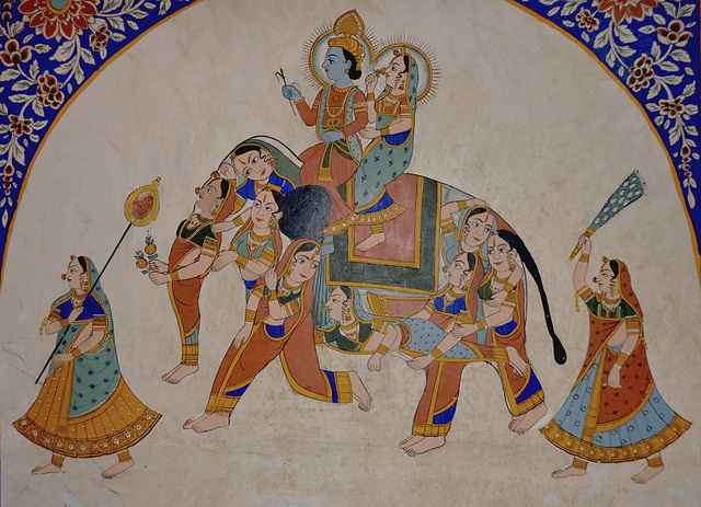 Haveli painting detail