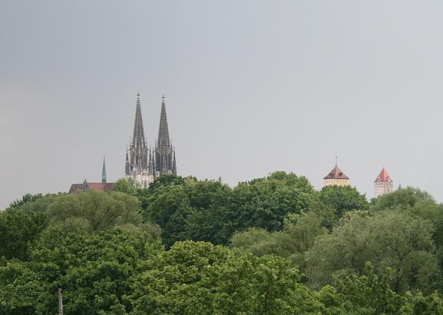 towers of regensburg