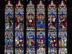 P6295699bc Dijon Cathedral St Benigne High North Transept Window Lower Details