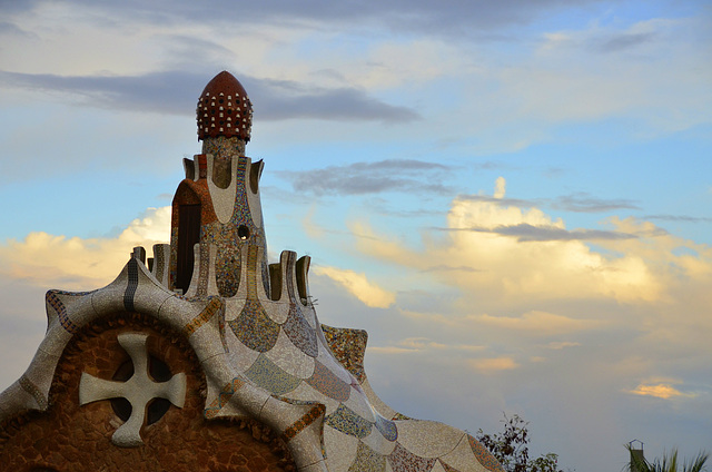 Roof. Park Guell.