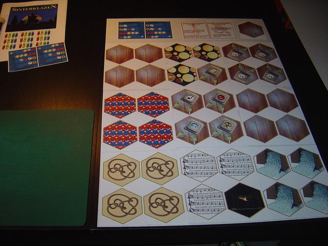 Tegels op karton plakken (2)