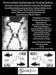 Invitación a la Muestra de fin del Taller de Fotografía Experimental.