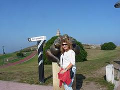Marian en la Torre de Hercules-Galicia