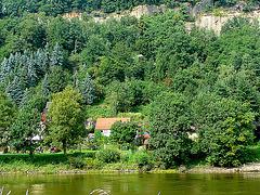 Mein Haus an der Elbe im August