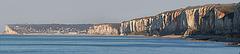 panorama de la côte normande (vue d' Yport)