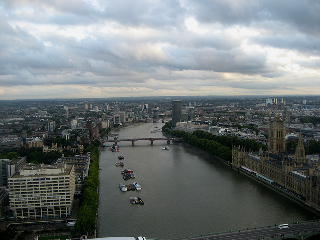 Looking West From The London Eye