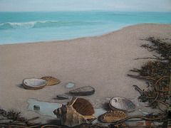 a Coast Landscape=Marborda Pejzagxo_oil+coffee on canvas_50x65.1cm(15p)_2011_HO song