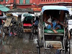 Rickshaw stand