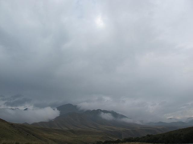 Nuages épais en Khirgizie