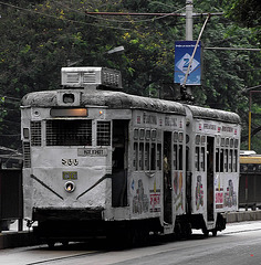Grey tram