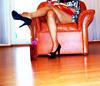 Madame Tissot en talons hauts / Lady Tissot in high heels - Suisse / Switzerland.