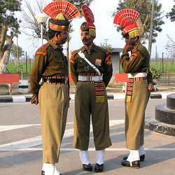 India-Pakistan border. Soldiers