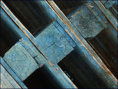 pallets of blue . .