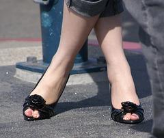 black peep toes