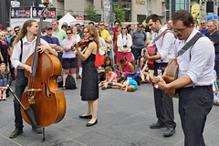 Street Music – Jazz Festival, Saint Catherine Street at Jeanne-Mance, Montréal, Québec