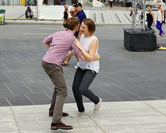 Dancing in the Street  – Jazz Festival, Saint Catherine Street at Jeanne-Mance, Montréal, Québec