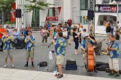 Playing the Blues – Jazz Festival, Saint Catherine Street at Jeanne-Mance, Montréal, Québec