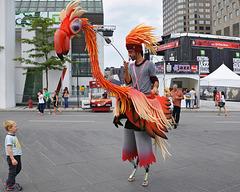The Bird Man – Jazz Festival, Saint Catherine Street at Jeanne-Mance, Montréal, Québec