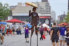 A Different Perspective – Jazz Festival, Saint Catherine Street at Jeanne-Mance, Montréal, Québec