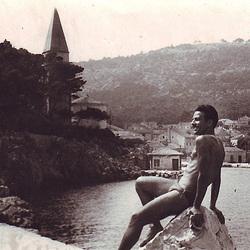 attractive swimmer in the Aegean sea - 1930'