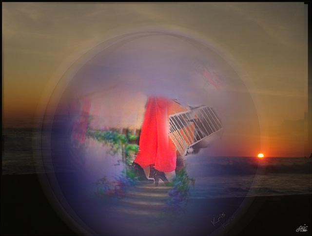 Rêve Bulle au soleil couchant /  Bubble dream at sunset / Sueño de la burbuja en el puesta del sol.