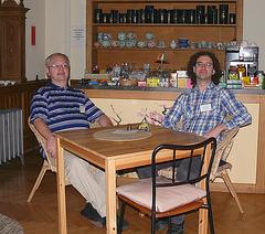 Miroslav Malovec kaj Chuck Smith, elstaruloj de esperanta Vikipedio
