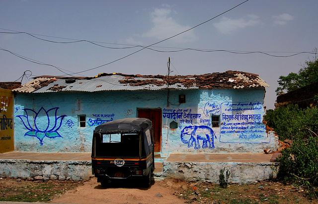 India. Village house