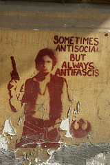 sometimes antisocial but always antifascist