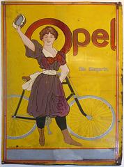 Opel Fahrradwerbung