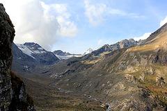 Blick auf die Gletscher des Naturparks Stilfserjoch