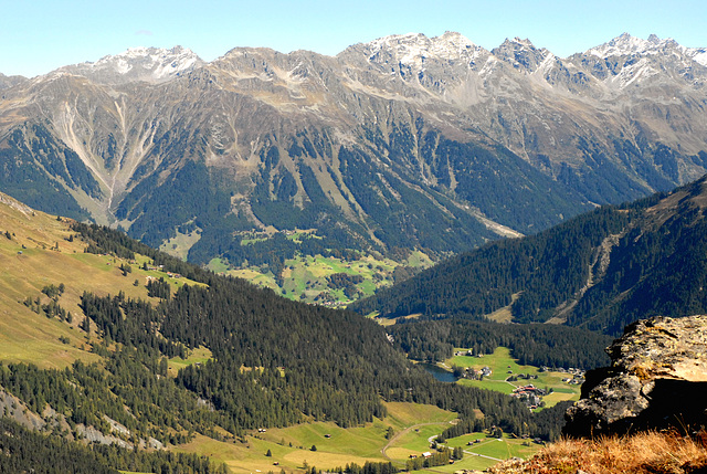 Panorama des Alpes grisonnes...