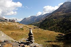 Blick auf die Zufallhütte 2264 m