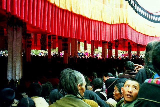 Tibetan pilgrims. Labrang, Xiahe.
