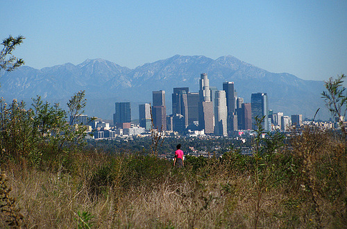 Baldwin Hills Scenic Overlook view of downtown L.A. (2601)