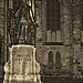 Joh. Seb. Bach vor der Thomaskirche