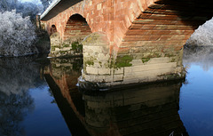 Montford Bridge over the River Severn