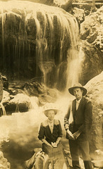 Frances and Ned at Leura Falls, New South Wales, Australia, March 15, 1914