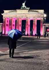 der Blaue Schirm auf dem Festival  Lights