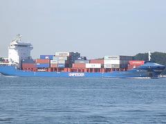 Feeder-Containerschiff  WMS Groningen