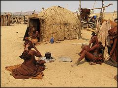 village himba à Purros - Namibie